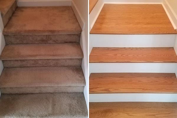 stair hardwood restoration